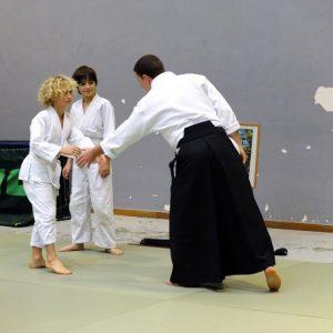 Les débuts du cours d'aikido pour les enfants en 2015